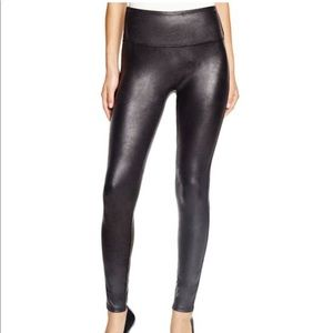 NWOT SPANX Faux-Leather Leggings (L)